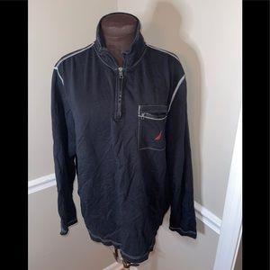 Nautica men's 1/4 zip up shirt L Black